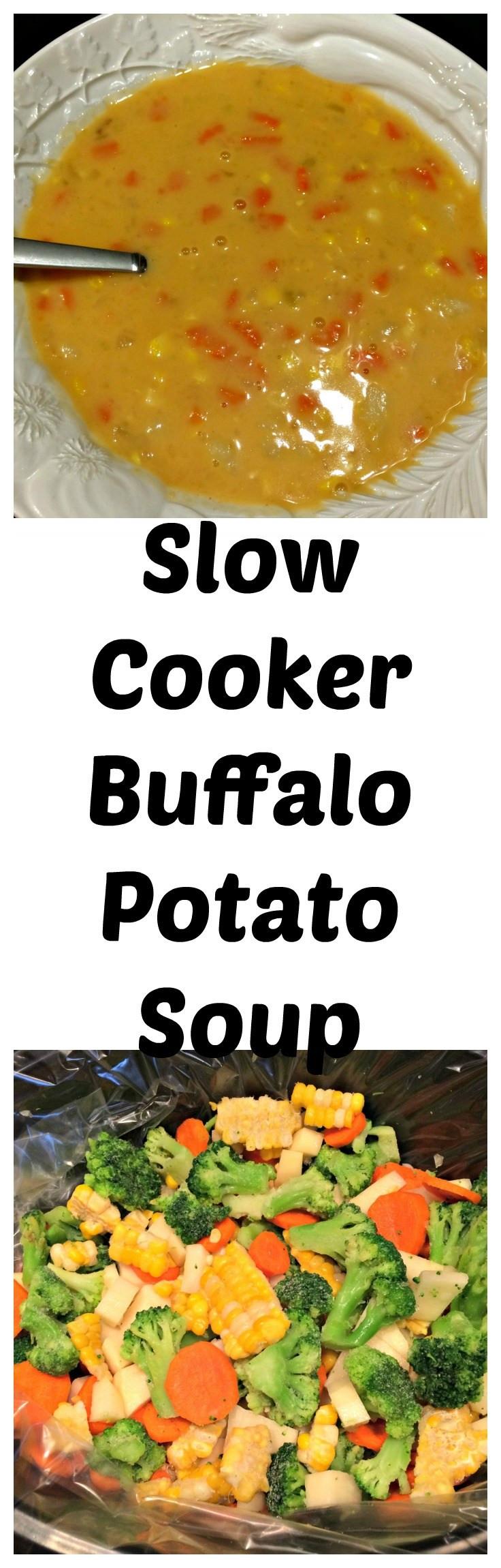 Slow Cooker Vegetarian Potato Soup  Slow Cooker Ve arian Buffalo Potato Soup Sweet Mornings
