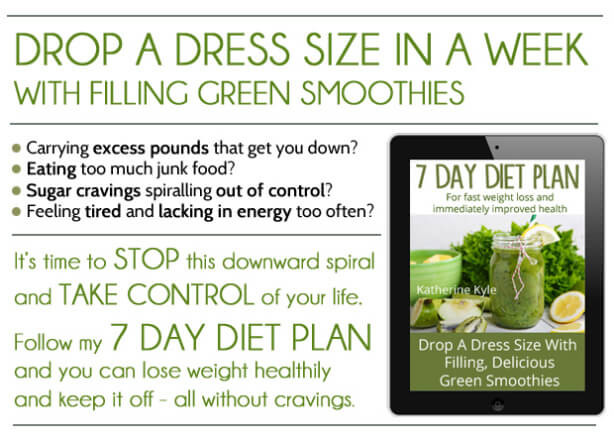 Smoothie Diet Recipes For Weight Loss Plan  Green Smoothie 7 Day Detox Diet Plan Lose Weight and Feel