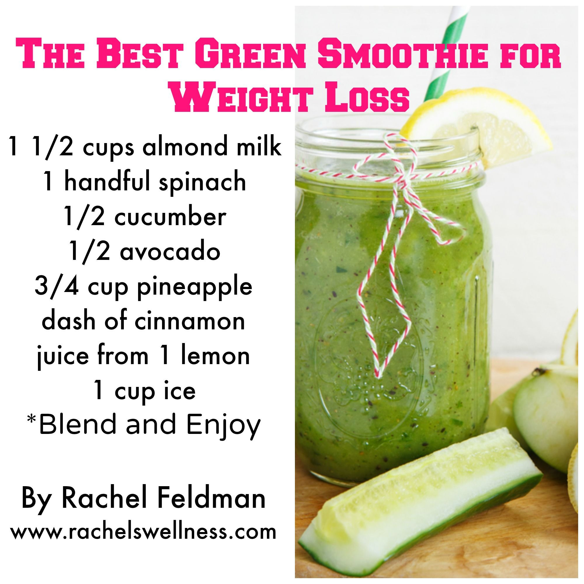 Smoothie Diet Recipes For Weight Loss  7 Healthy Green Smoothie Recipes For Weight Loss