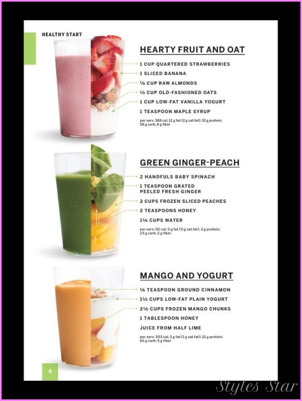 Smoothie Weight Loss Recipes  Healthy Smoothie Recipes To Lose Weight