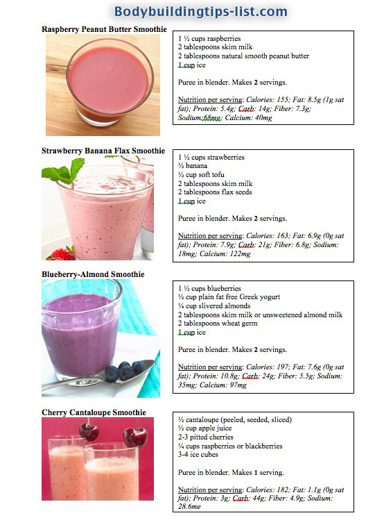 Smoothie Weight Loss Recipes  Smoothie recipe for weight loss and energy