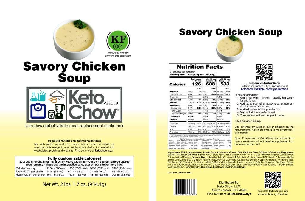 Spanish Ketogenic Mediterranean Diet  Keto Chow Nutrition Info