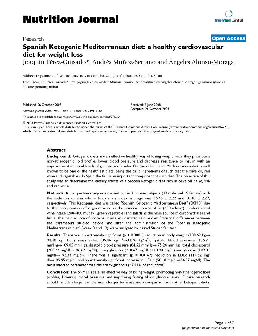 Spanish Ketogenic Mediterranean Diet  PDF Spanish Ketogenic Mediterranean t A healthy