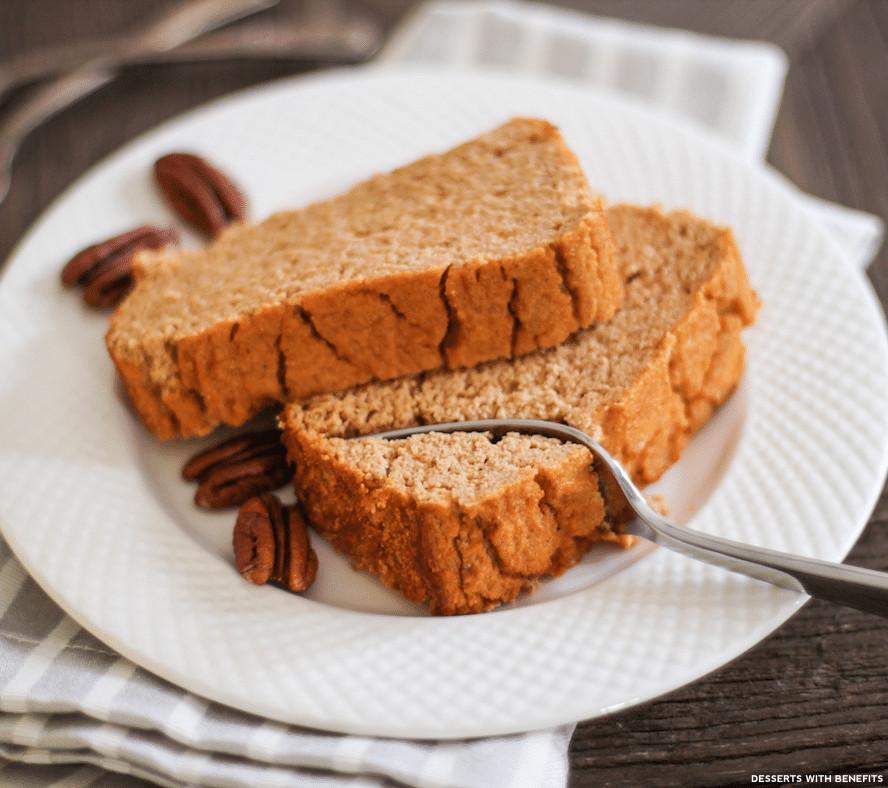 Sugar Free Gluten Free Dessert  Desserts With Benefits Healthy Pumpkin Cake Loaf recipe