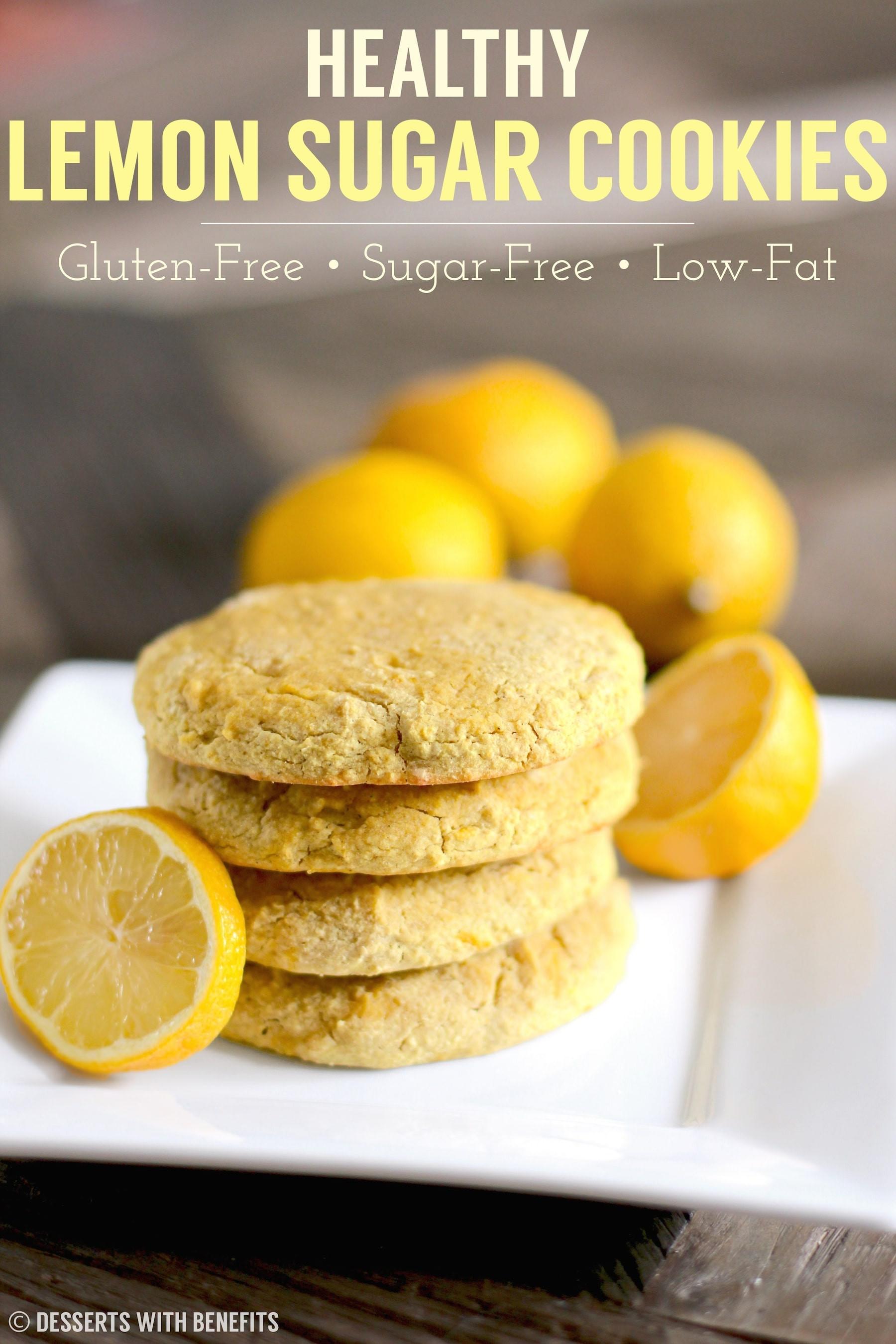 Sugar Free Gluten Free Dessert  Soft Chewy Lemon Sugar Cookies Recipe