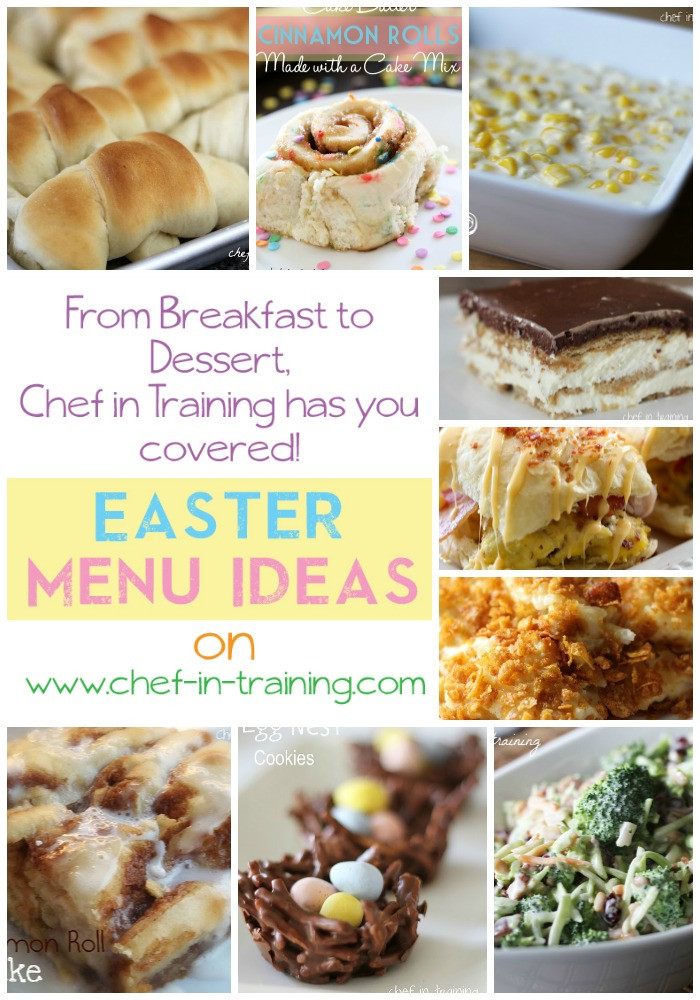 Suggestions For Easter Dinner Menu  Easter Menu Ideas Chef in Training