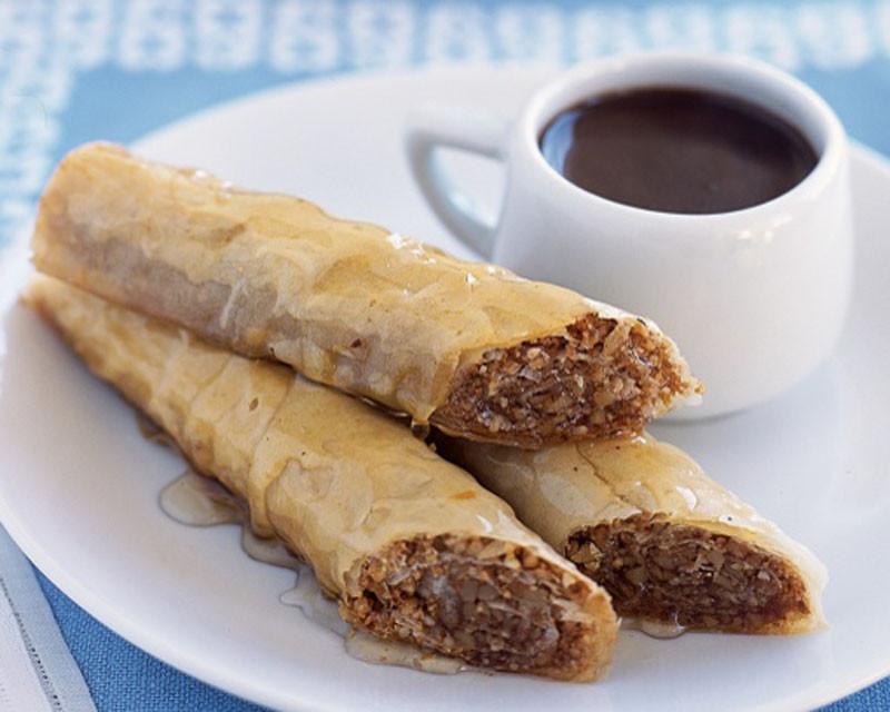 Sweet Healthy Snacks  Baklava with Honey Syrup