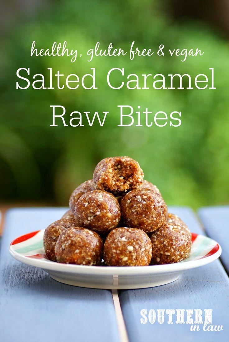 Sweet Healthy Snacks  Recipe Salted Caramel Raw Bites Clean Eating