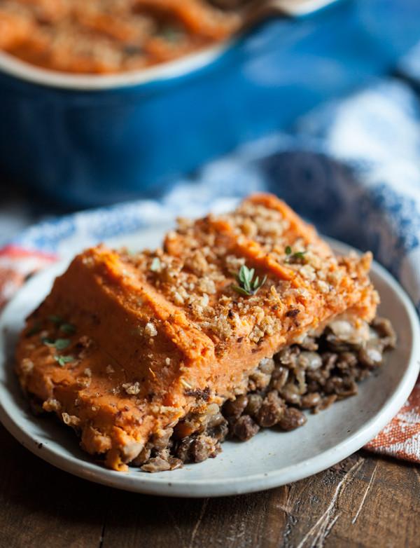 Sweet Potato Shepherd'S Pie Vegetarian  Vegan Sweet Potato and Lentil Shepherd s Pie
