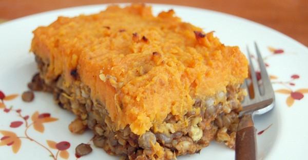 Sweet Potato Shepherd'S Pie Vegetarian  Ve arian Shepherd's Pie with Lentils Mushrooms and