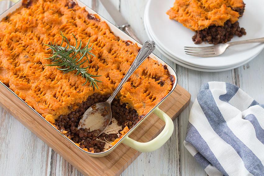 Sweet Potato Shepherd'S Pie Vegetarian  Vegan Shepherd s Pie With Sweet Potatoes The Healthy Tart