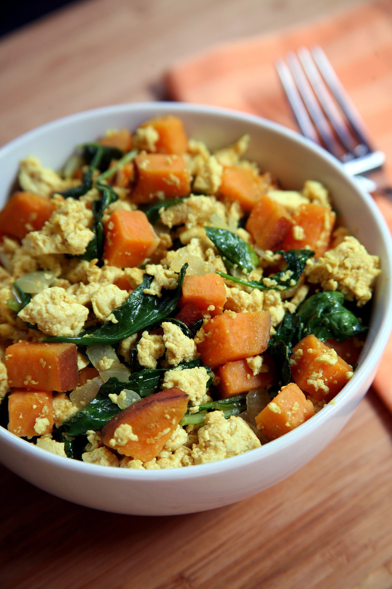 Sweet Potatoes Vegan Recipes  Vegan Breakfast Recipes Tofu Kale Sweet Potato Scramble
