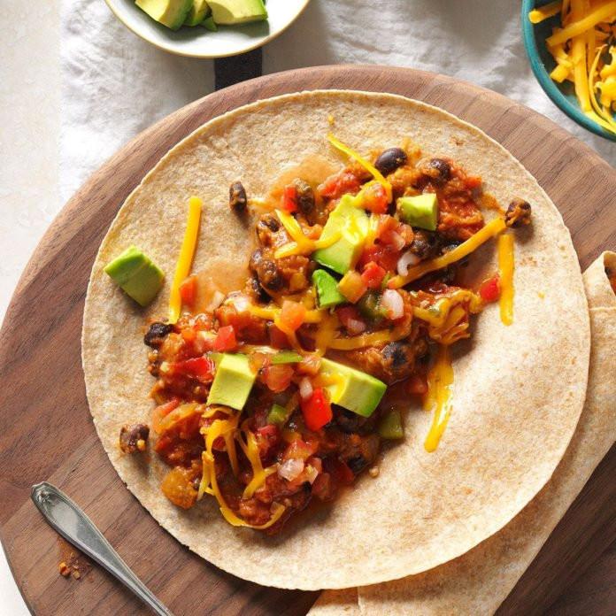 Taste Of Home Vegetarian Chili  Ve arian Bean Tacos Recipe