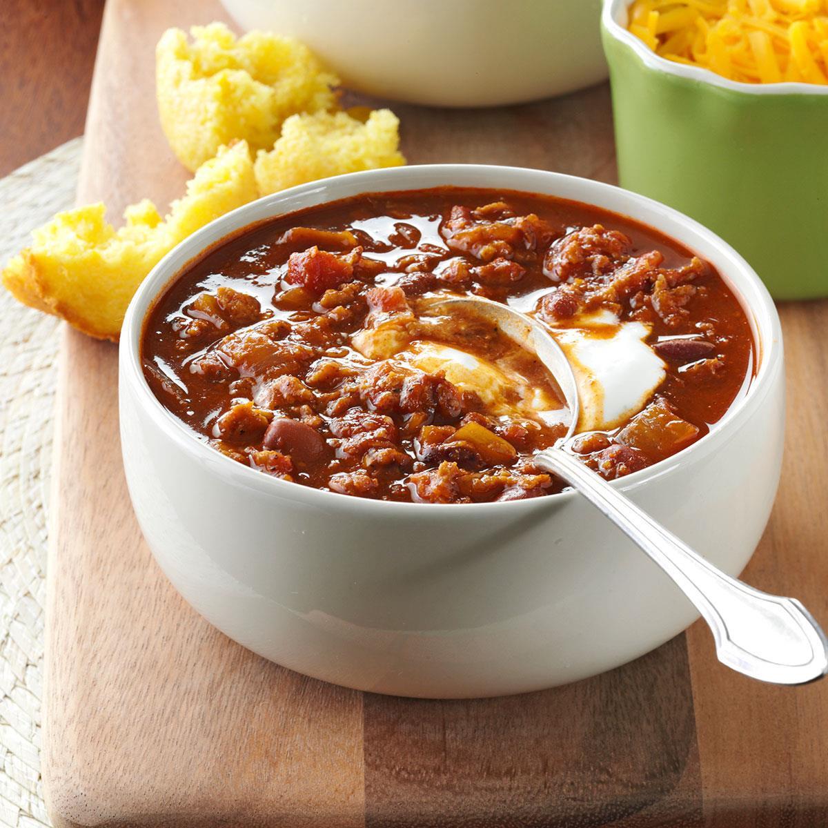 Taste Of Home Vegetarian Chili  Ve arian Red Bean Chili Recipe