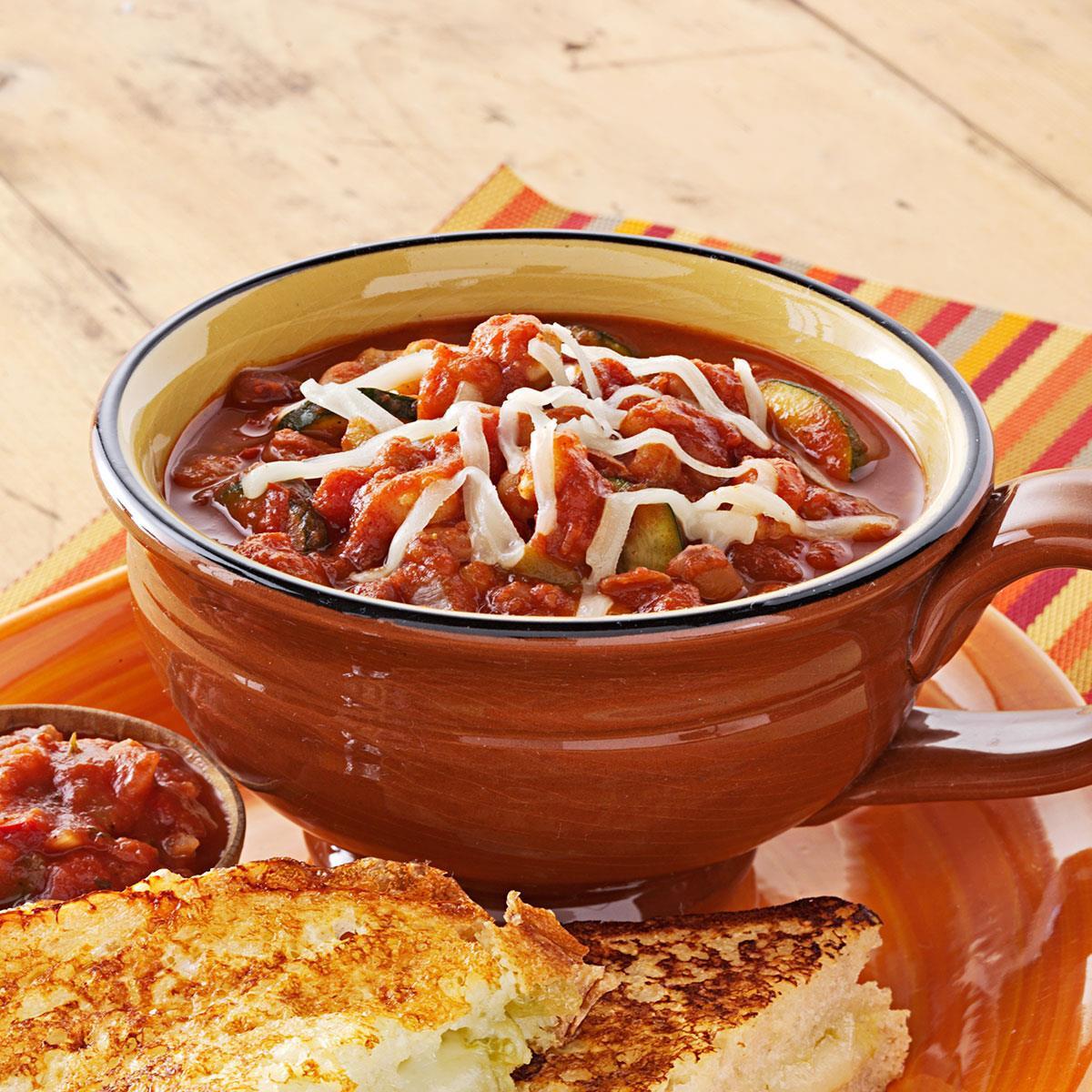 Taste Of Home Vegetarian Chili  Zippy Ve arian Chili Recipe