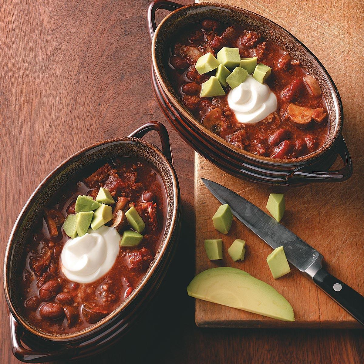 Taste Of Home Vegetarian Chili  Hearty Ve arian Chili Recipe