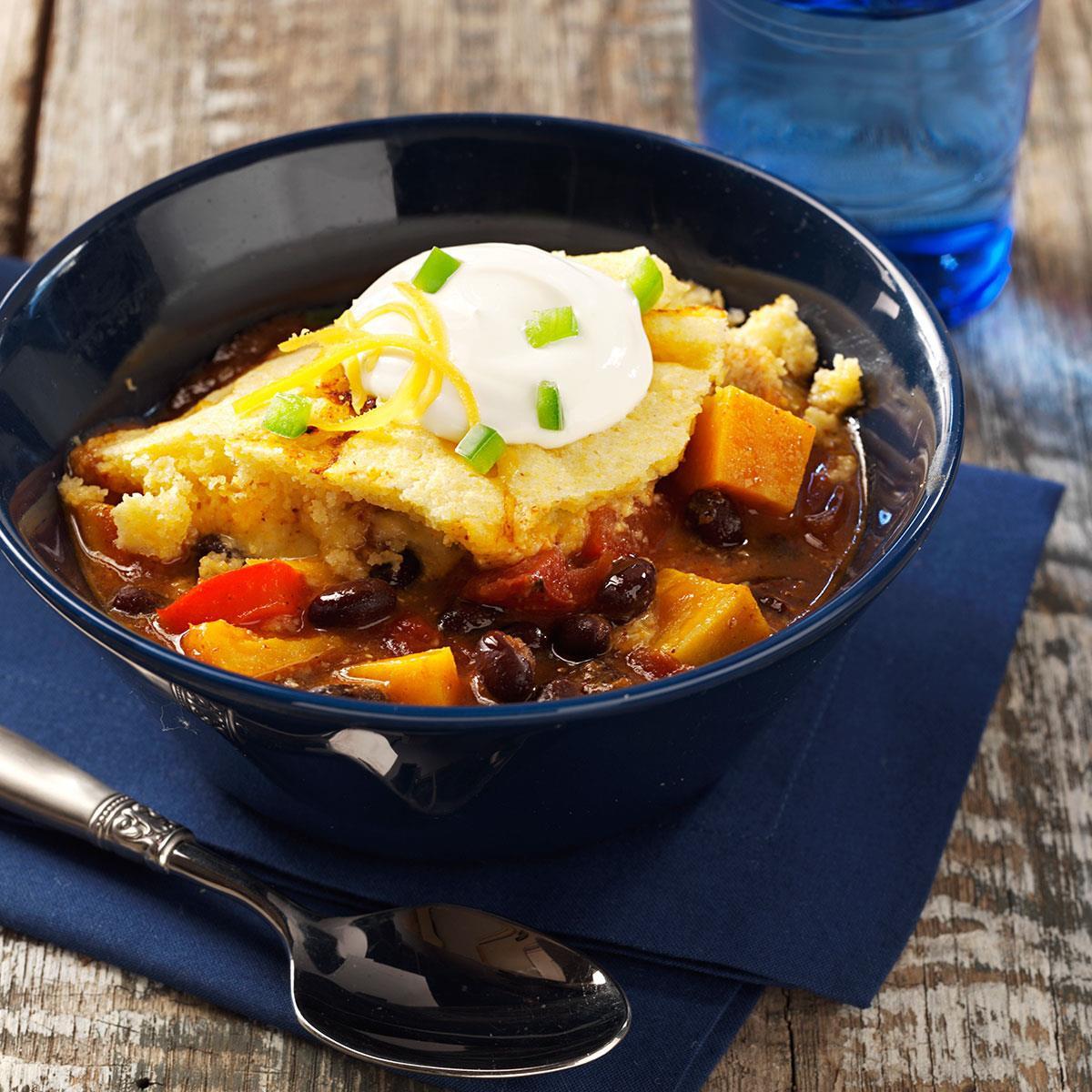 Taste Of Home Vegetarian Chili  Sweet Potato Chili Bake Recipe