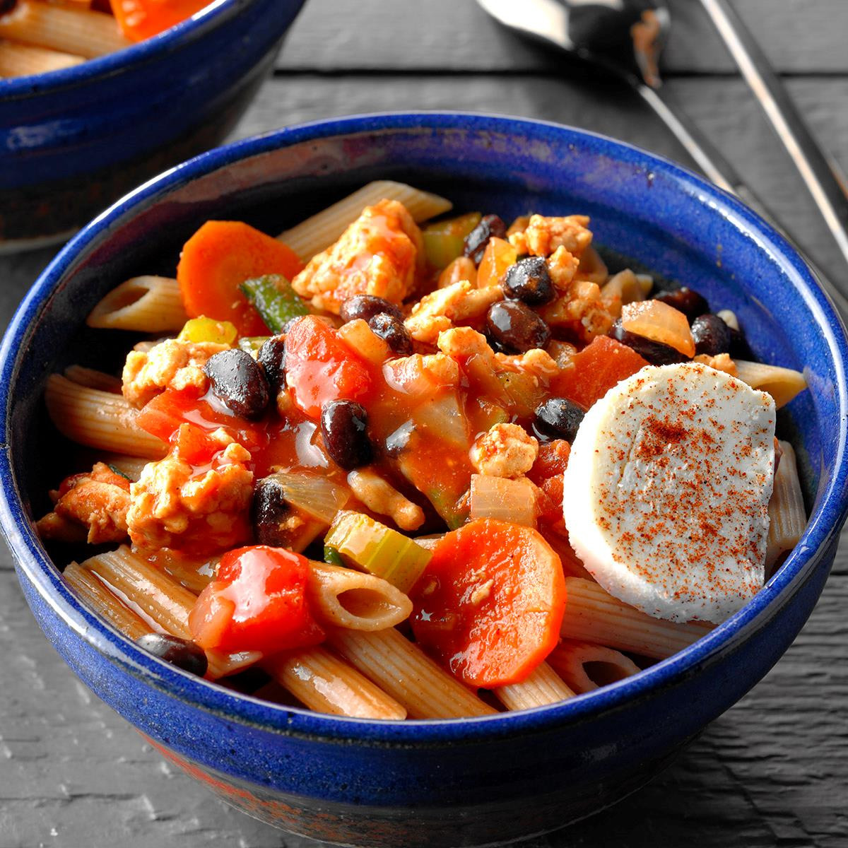 Taste Of Home Vegetarian Chili  Turkey Chili with Penne Recipe