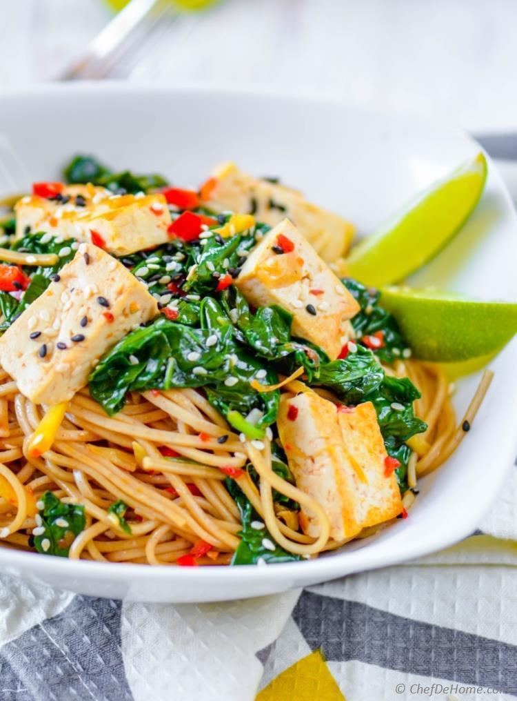 Tofu Recipes Healthy  Buckwheat Soba Noodles with Coconut Lime Tofu Recipe