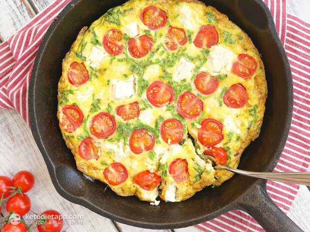 Tomatoes On Keto Diet  Quick Frittata with Tomatoes and Cheese