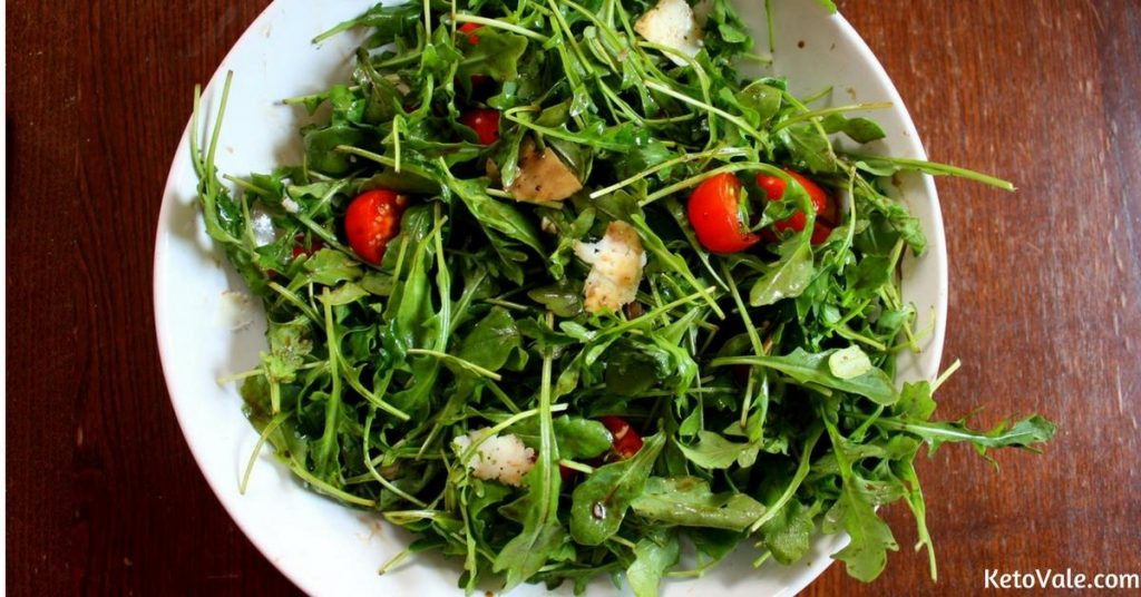 Tomatoes On Keto Diet  Arugula Salad with Parmesan and Cherry Tomatoes