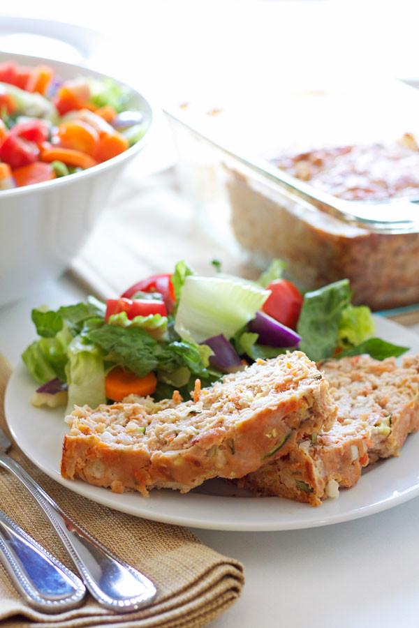 Turkey Meatloaf Healthy  Turkey Ve able Meatloaf Recipe Runner