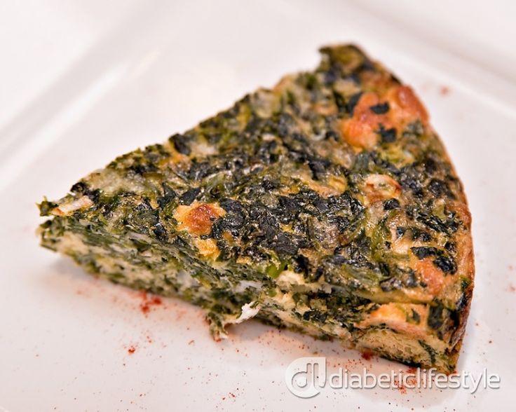 Type 1 Diabetic Recipes  Crustless Spinach Quiche Recipe