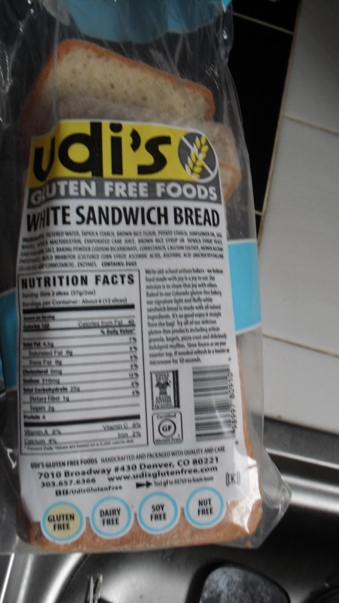 Udi'S Gluten Free Bread Calories  Udi S Bread Nutrition Label Nutrition Ftempo