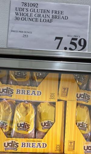 Udi'S Gluten Free Bread Calories  Udi s gluten free bread at Costco