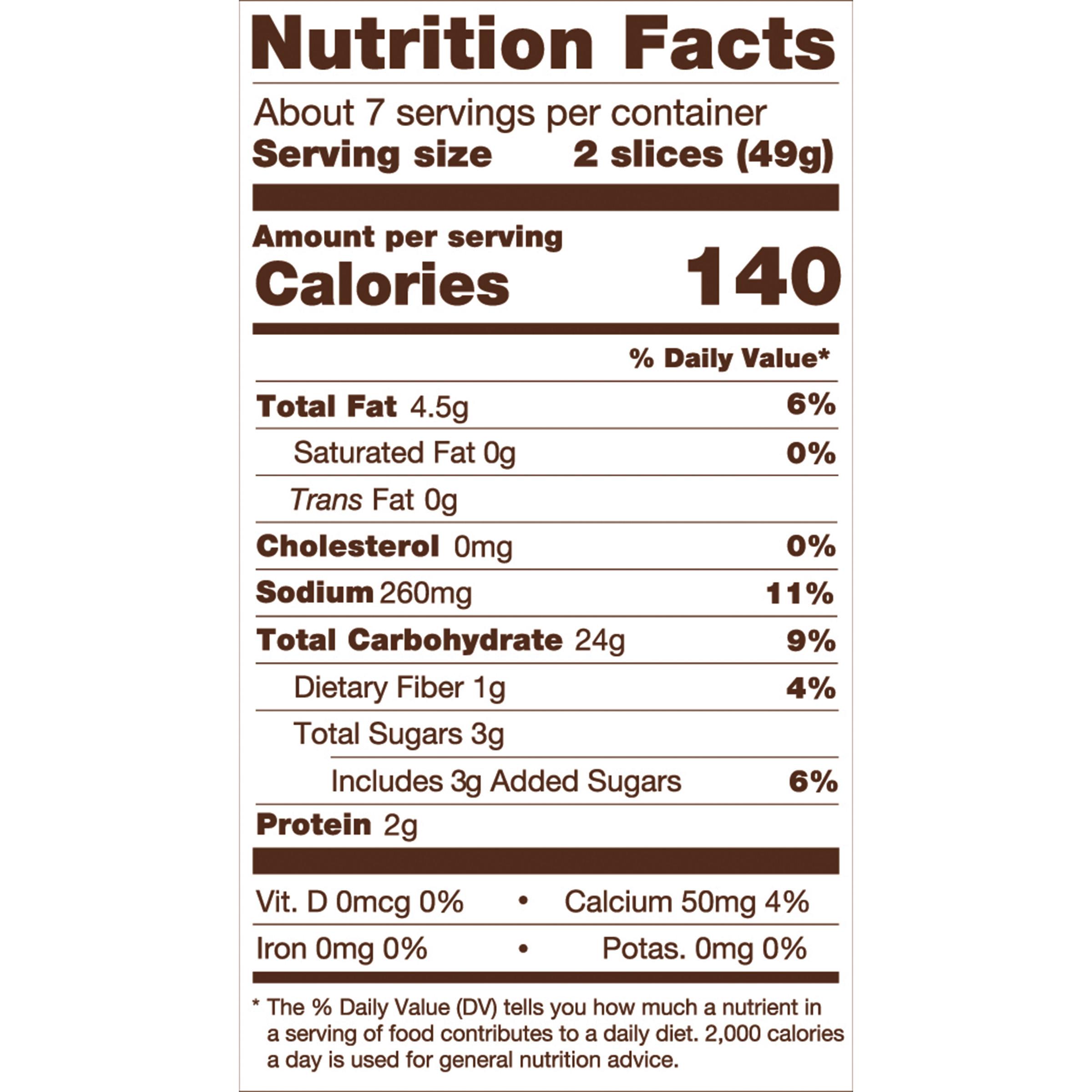 Udi'S Gluten Free Bread Calories  Delicious Multigrain Bread Nutrition Information 12 oz