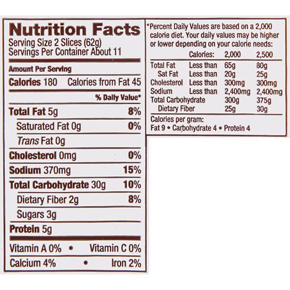 Udi'S Gluten Free Bread Calories  Udi S Bread Nutritional Information Nutrition Ftempo