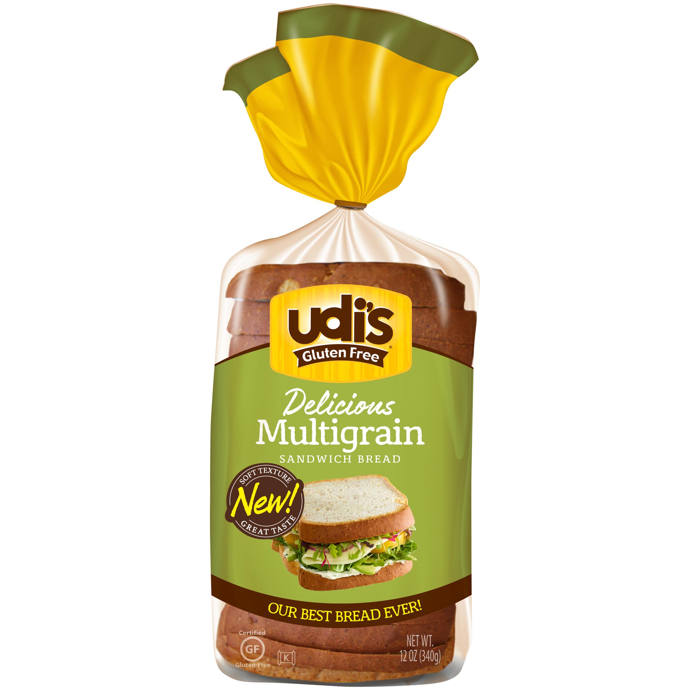 Udi'S Gluten Free Bread Calories  Gluten Free Breads Rolls & Buns