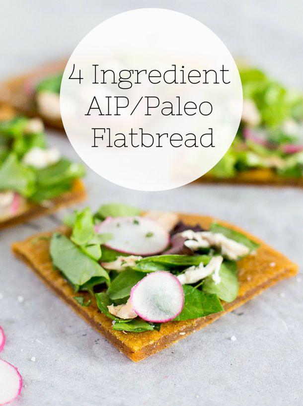 Vegan Aip Recipes  4 Ingre nt AIP Flatbread recipe paleo vegan coconut