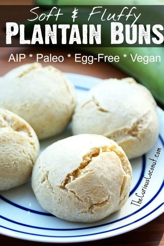 Vegan Aip Recipes  Soft and Fluffy Plantain Buns Paleo AIP Vegan