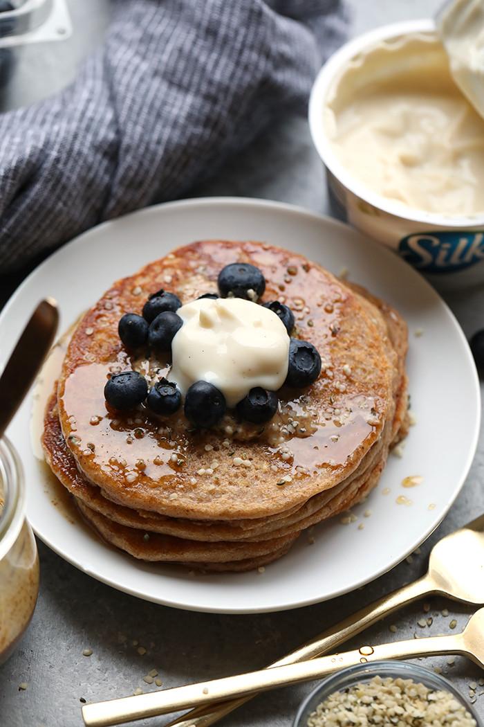 Vegan Almond Flour Pancakes  Healthy Vegan Breakfast Ideas Fit Foo Finds