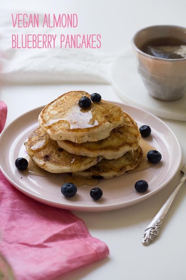 Vegan Almond Flour Pancakes  Vegan Almond Blueberry Pancakes – A Cozy Kitchen