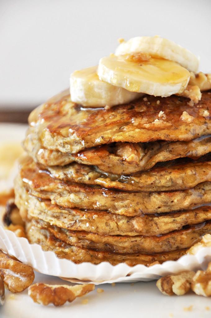 Vegan Almond Flour Pancakes  Vegan Banana Nut Muffin Pancakes