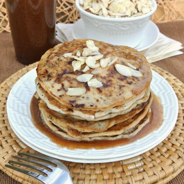 Vegan Almond Flour Pancakes  vegan almond butter pancakes