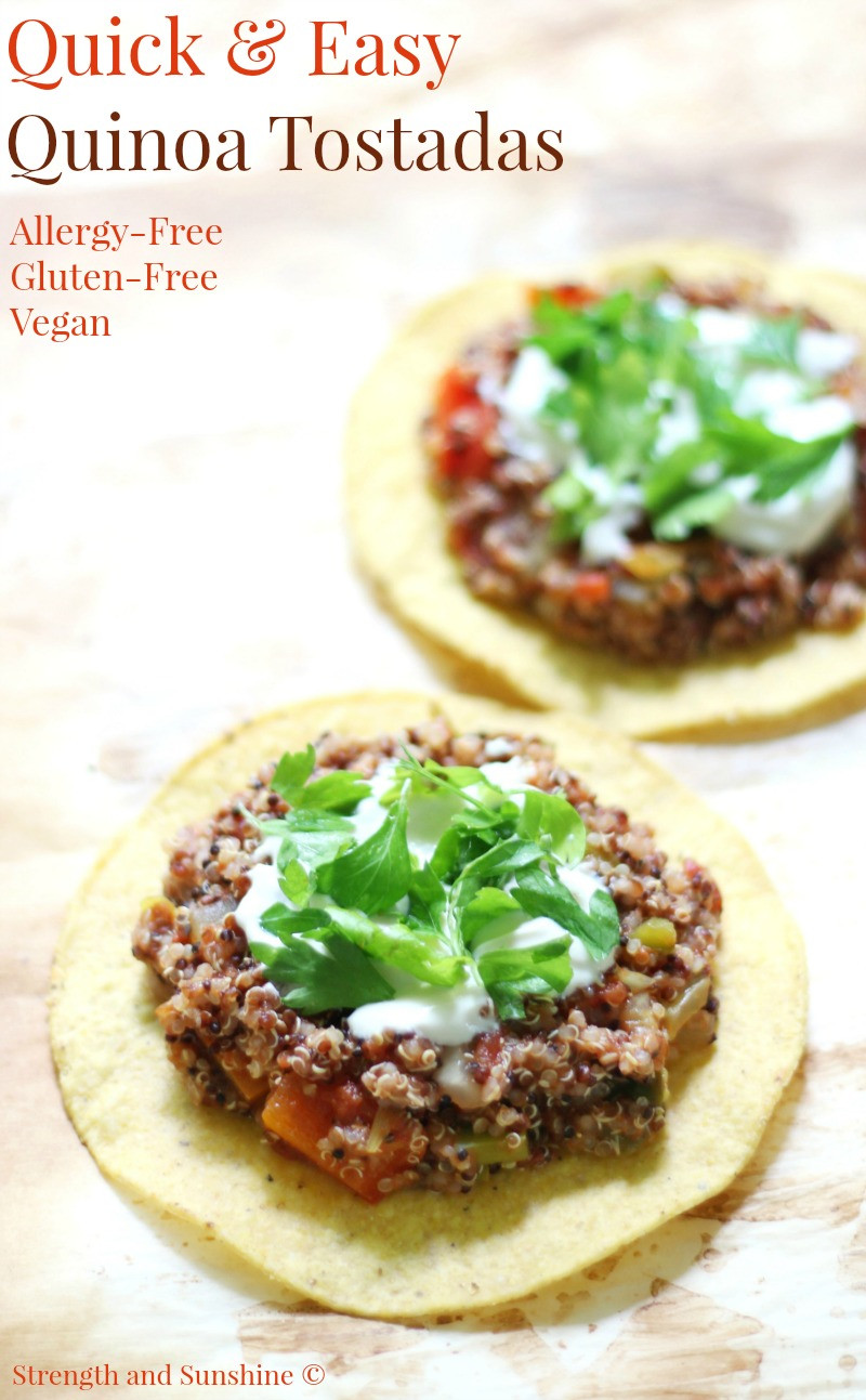 Vegan And Gluten Free Recipes  Quick & Easy Quinoa Tostadas Gluten Free Vegan