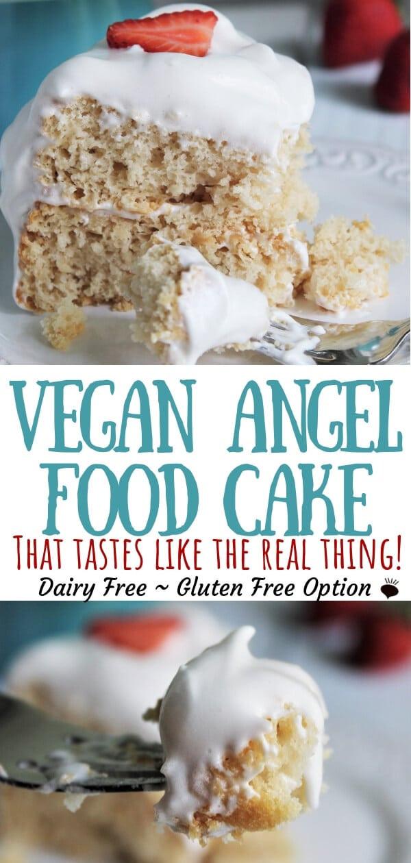 Vegan Angel Food Cake  Vegan Angel Food Cake The Hidden Veggies