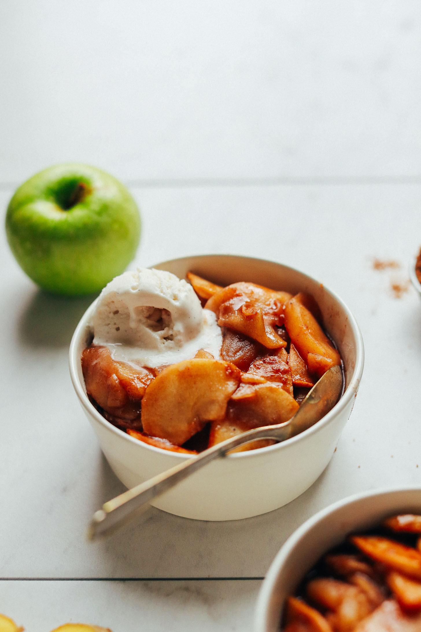 Vegan Apple Pie Minimalist Baker  Cinnamon Baked Apples