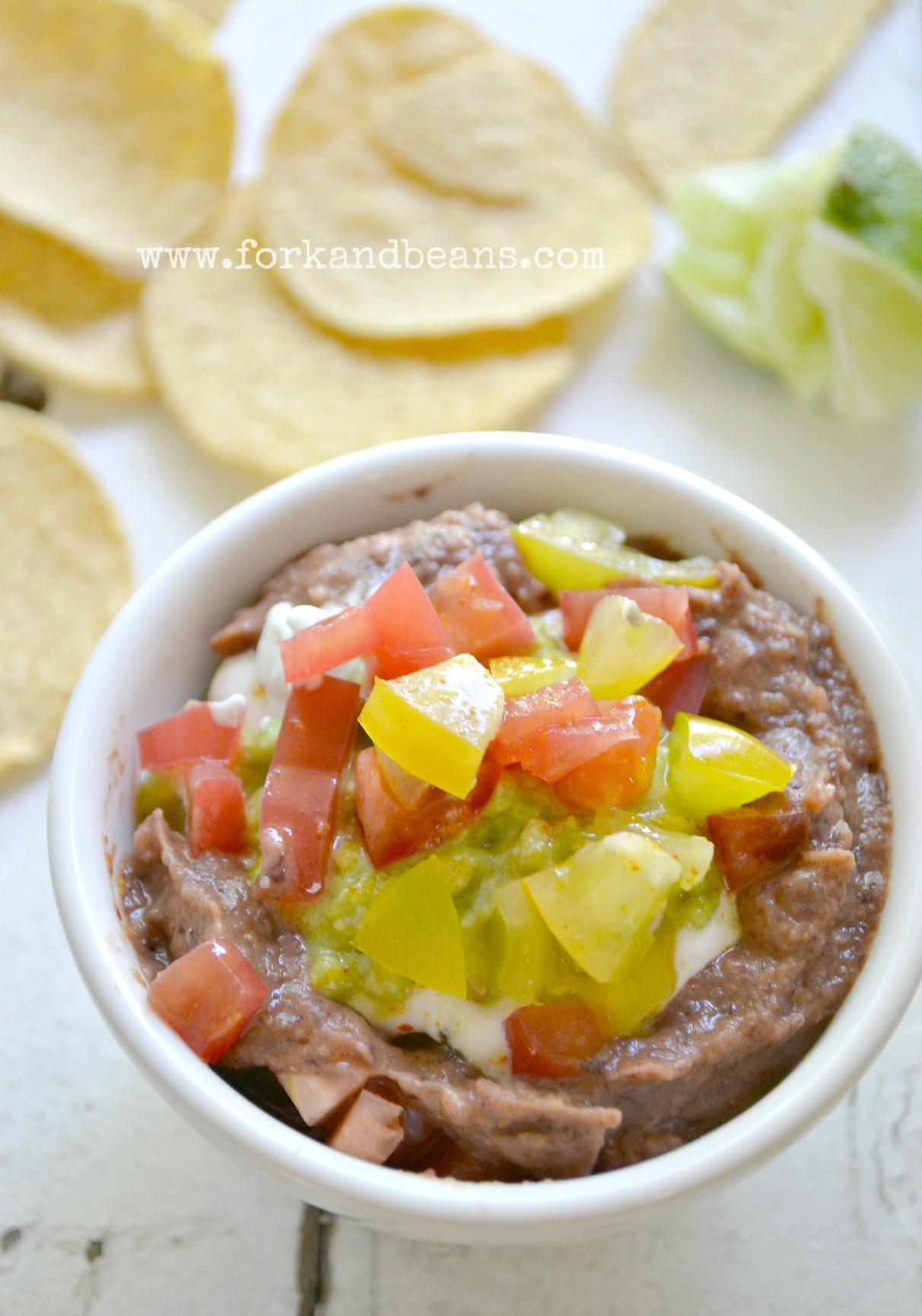 Vegan Bean Dip Recipes  The Great Vegan Bean Book s Four Layer Bean Dip Fork and