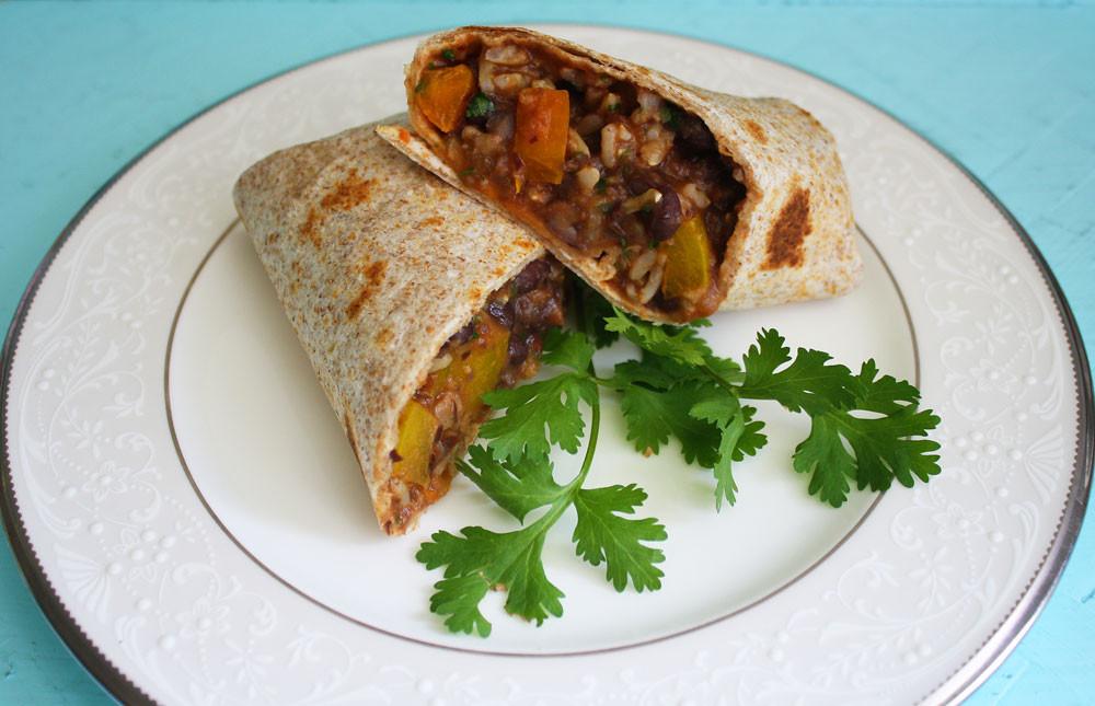 Vegan Black Bean Burritos  Vegan Piggy El Cheapo Burritos Vegan Black Bean Veggie