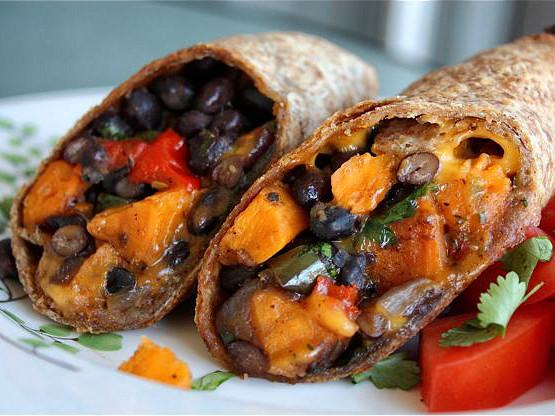 Vegan Black Bean Burritos  Roasted Veggie and Black Bean Burritos
