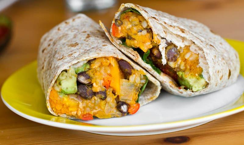 Vegan Black Bean Burritos  Black Bean and Butternut Squash Burritos — Oh She Glows