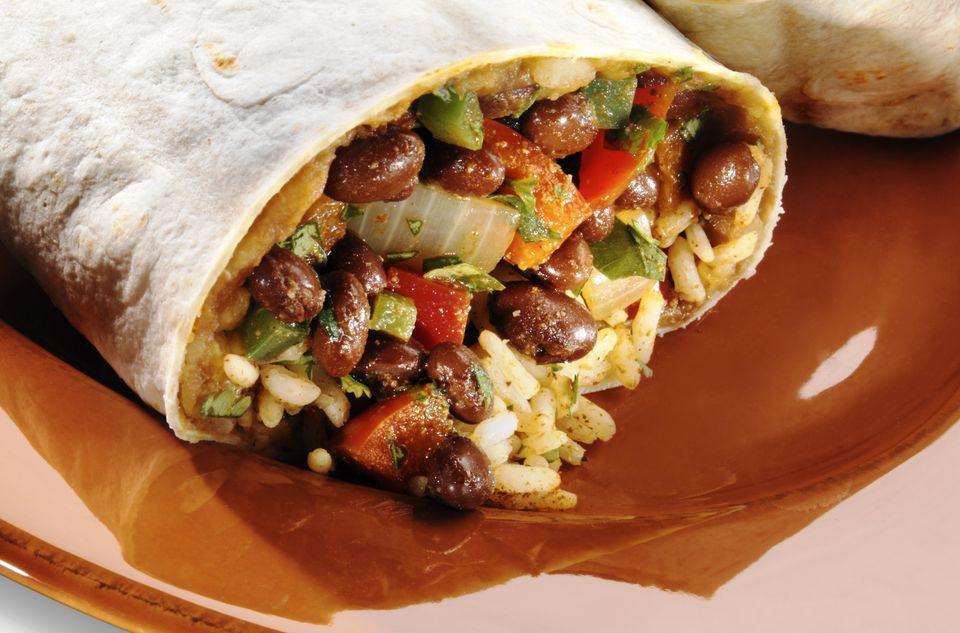 Vegan Black Bean Burritos  Ve arian Bean and Rice Burrito Recipe
