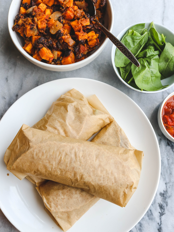 Vegan Black Bean Burritos  Sweet Potato and Black Bean Vegan Breakfast Burritos