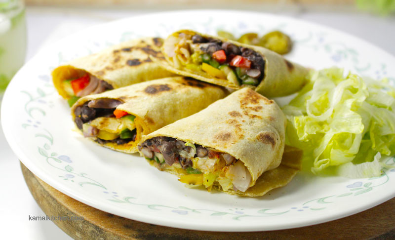 Vegan Black Bean Burritos  Healthy Black Bean Burritos Recipe