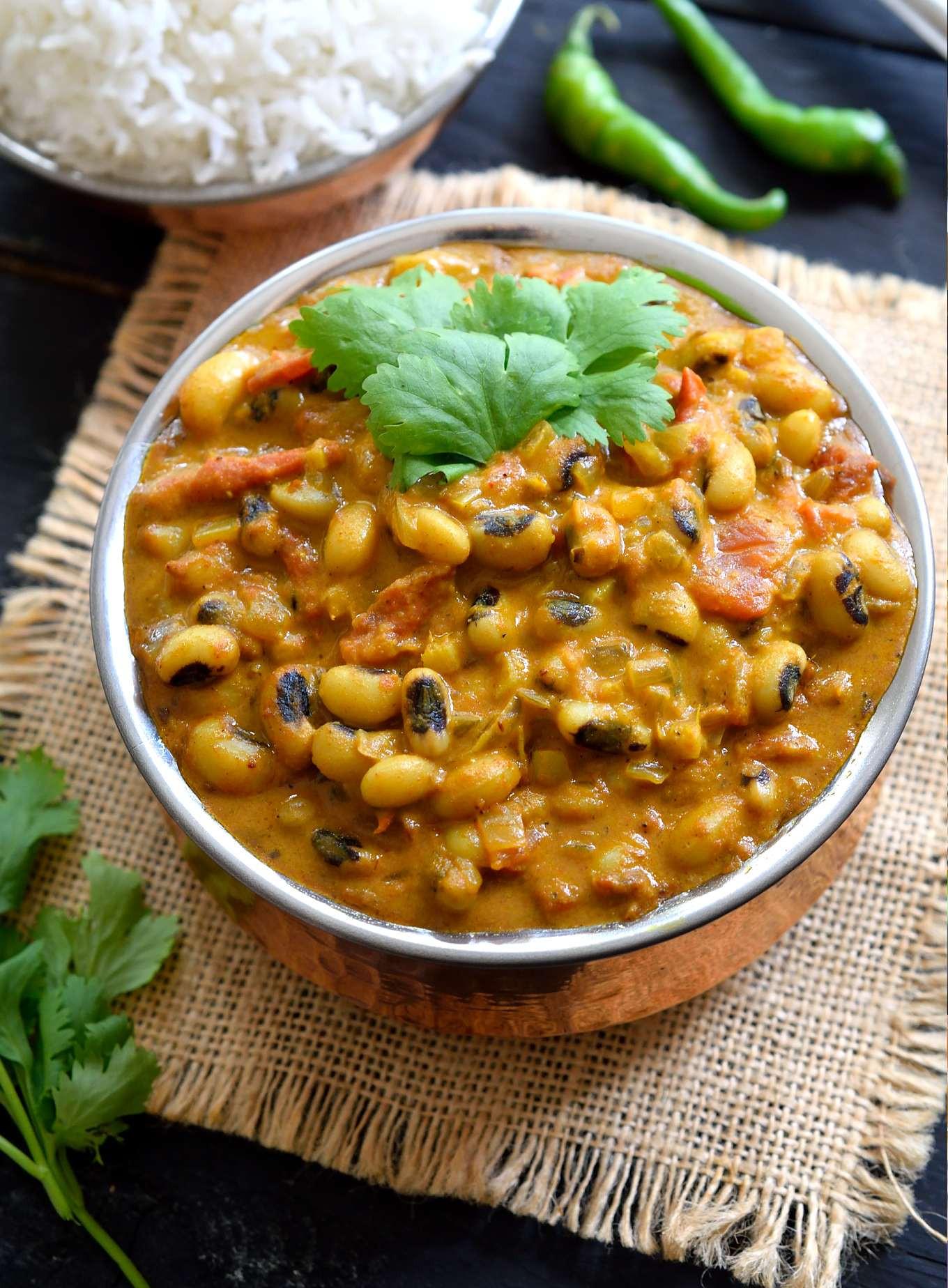 Vegan Black Eyed Pea Recipes  Curried Ve arian Black Eyed Peas Recipe