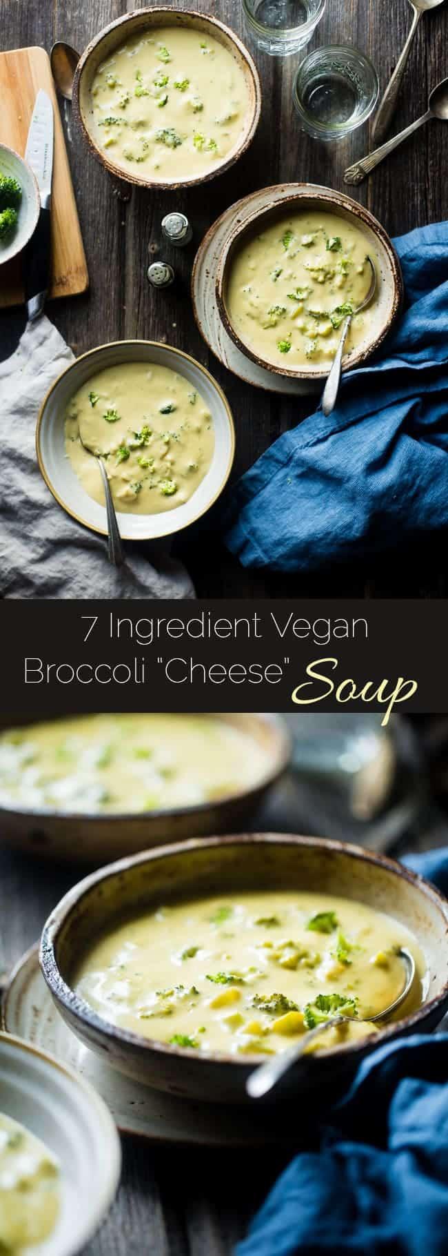 Vegan Broccoli Cheese Soup  Vegan Broccoli Cheese Soup